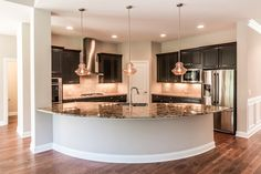 Love the kitchen design. See the full home tour here - http://homechanneltv.blogspot.com/2015/10/video-tour-custom-home-in-downers-grove.html