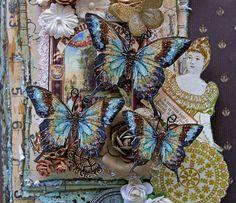 Butterfly Set Secret Garden Glitter Glass Butterflies  Scrapbook Embellishment Tag Card Mini Album Wedding. $3.25, via Etsy.