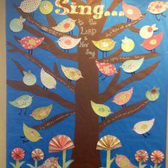 Spring Bulletin board at church