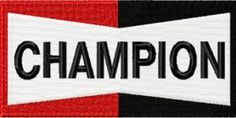 Champion logo machine embroidery design. Machine embroidery design. www.embroideres.com