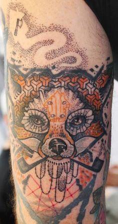 JUBSS LILI abstract fox tattoo