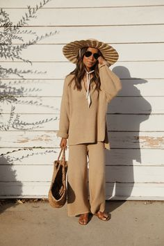 How to style Summer Neutrals – Sincerely Jules Sincerely Jules, Straw Tote, Sweater Set, More Cute, Beautiful Outfits, Traveling By Yourself, Neutral, Style Summer, Style Inspiration