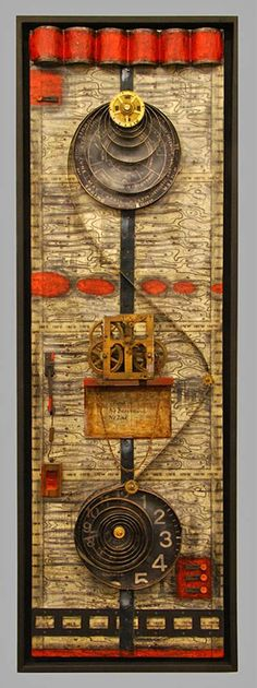 Assemblage by Ray Papka. Mowen Solinsky Gallery