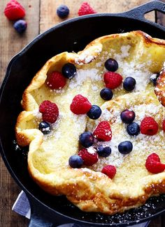 A hot and puffy golden pancake that only requires 5 minutes of prep! This classic breakfast is always a huge hit at our house!    Ingredients  ½ cup all purpose flour  3 eggs  ½ cup milk  3 tablespoons melted butter, divided  1