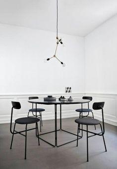 Franklin Chandelier , Designed by Soren Rose for Menu A/S, modern lighting, pendant lamp, Norm architects studio