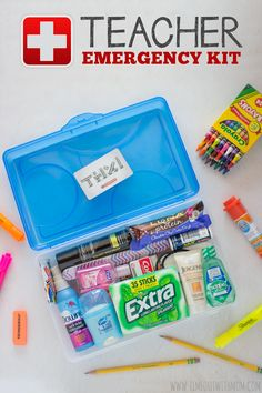 Create a simple, yet fun, Teacher Emergency Kit for your child& teacher. a simple, yet fun, Teacher Emergency Kit for your child& teacher. Teacher Emergency Kit, Survival Kit For Teachers, Back To School Emergency Kit, Emergency Kits, Emergency Kit For Girls, Back To School Teacher, Your Teacher, Simple Teacher Gifts, School Staff