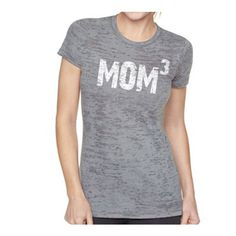 New Mom Mom 3 T-Shirt Womens T Shirt Burnout Tee Christmas Gift Baby... ($25) ❤ liked on Polyvore featuring tops, t-shirts, black, women's clothing, burnout tee, black t shirt, black cotton shirt, black shirt and valentines day t shirts