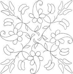 Flower Coloring Page Bordado mexicano