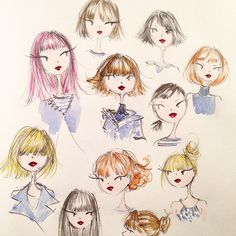 A study of...bangs.  ©anne keenan higgins