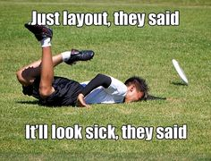 ultimate frisbee fail. Happens everyday.