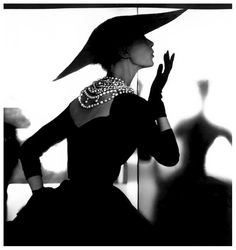 Model Barbara Mullen photographed by Lillian Bassman, 1950.