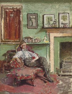 The Athenaeum - Self-Portrait (Malcolm Drummond - ) Self Portrait Artists, Camden Town, Impressionist Artists, Group Art, English Artists, Post Impressionism, Figure Painting, Printmaking, Artwork