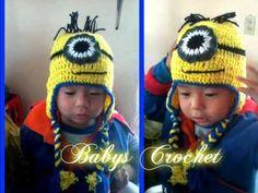 Gorro de Minion a Crochet - YouTube