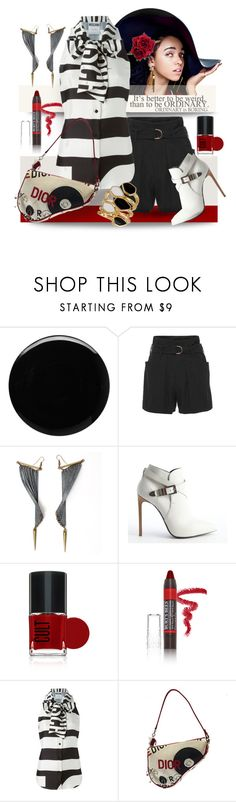 """""""ordinary weird"""" by collagette ❤ liked on Polyvore featuring Deborah Lippmann, Blumarine, Ware, Yves Saint Laurent, Burt's Bees, Clips, Moschino, Ariella Collection, stripes and YSL"""