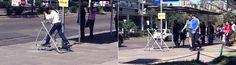 O grupo gaúcho ShoottheShit já fez várias intervenções bacanas em Porto Alegre, incluindo essa, de disponibilizar uma estação de exercício na parada do ônibus. Além de fazer as pessoas se exercitarem de fato, o grupo colocou o pessoal para pensar sobre o que estão fazendo a respeito de sua saúde e do seu tempo livre.