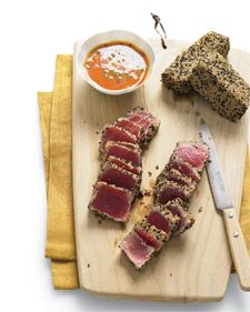 Sesame Seared Tuna with Ginger-Carrot Dipping Sauce. They may be tiny, but seeds pack a powerful nutritional punch. From Martha Stewart.