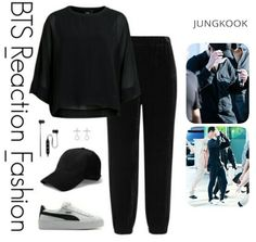 Hipster Outfits, Kpop Fashion Outfits, Korean Outfits, Cute Casual Outfits, Simple Outfits, Trend Fashion, Look Fashion, Korean Fashion, Teenager Outfits