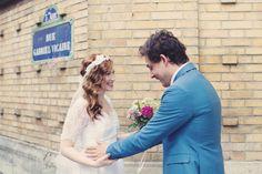 floral headband x Paris Wedding, French Wedding, Wedding Blog, Wedding Day, Wedding Stuff, Floral Headbands, Beautiful One, Bride Hairstyles, Couple Photos
