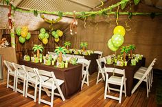 My son Ethan's Birthday Party - Monkey Jungle Theme, kids sit down tables. Party styled by Piece of Cake Parties & Celebrations. Photography by Lightbox Photography. Safari Party, Jungle Book Party, Jungle Theme Parties, Jungle Theme Birthday, Birthday Party Themes, 5th Birthday, Jungle Safari, Animal Birthday, Birthday Ideas
