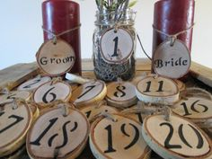 Wood Table Numbers Wedding Numbers Rustic by DivineRusticCreation, $28.00