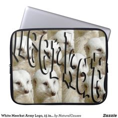 #white #meerkat Army Logo, 15 inch #laptopsleeve