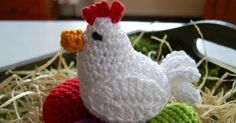 Easter Chicken and her eggs. Crochet Amigurumi, Amigurumi Patterns, Crochet Patterns, Chicken Pattern, Crochet Chicken, Easter Specials, Hens And Chicks, Crafts Beautiful, Easter Crochet