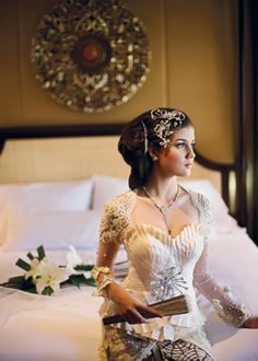 Perhaps a dramatic head piece to go with my kebaya inspired wedding dress...