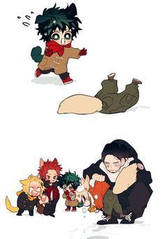 Midoriya & Bakugou & Kaminari & Kirishima & Aizawa
