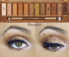 honey makeup palette looks Urban Decay Makeup, Maquillage Urban Decay, Urban Decay Eyeshadow, Make Up Palette, Naked Palette, Kiss Makeup, Love Makeup, Makeup Inspo, Beauty Makeup