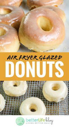 Air Fryer Oven Recipes, Air Fry Recipes, Air Fryer Dinner Recipes, Donut Recipes, Brunch Recipes, Cooking Recipes, Waffle Recipes, Breakfast Recipes, Air Fry Donuts