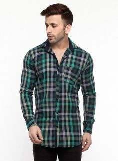 Buy Checked Brush Twill Casual Shirt Online at Low prices in India on Winsant  #shirts #casualshirt #mensfashion #fashionblogger #fashion #style #winsant #pinterestmarketing #pinterest Formal Shirts For Men, Online Shopping Websites, Green Man, Daily Wear, Workout Shirts, Men Casual, Menswear, India, Men Shirt