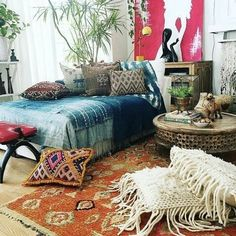 pictures of bohemian bedrooms - Bing images Bohemian Bedrooms, Boho Room, Bohemian Interior, Bohemian Living, Bohemian Bedding, Bohemian House, Modern Interior, Boho Decor, Bohemian Decorating