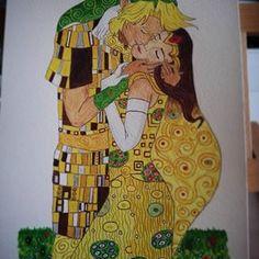 """Otro fin de semana relajándome con la pintura. Esta vez una versión muy particular de """"El Beso"""" de Gustav Klimt con los personajes del videojuego Zelda. Descubriendo y aprendiendo poco a poco. Casi está terminado. #acrilico #lápicesdecolores #fanart #Klimt #zelda (basado en una idea del artista shattered earth) Gustav Klimt, Fanart, Princess Zelda, Fictional Characters, Instagram, Kisses, Pintura, Artists, Fan Art"""