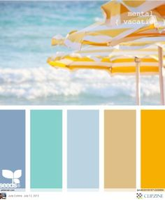 Ocean & Beach Umbrellas Color Palette Brought to you by Williams Group of Pelican Real Estate. See more properties on our Facebook page www.Facebook/... Twitter @FL_REO_Sales , and on our webpage www.WilliamsGroup...