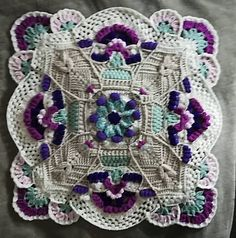Ravelry: Karoo Vintage MAL pattern by Jen Tyler Crochet Mandala Pattern, Granny Square Crochet Pattern, Afghan Crochet Patterns, Crochet Stitches, Crochet Granny, Crochet Afghans, Crochet Blankets, Double Crochet, Easy Crochet