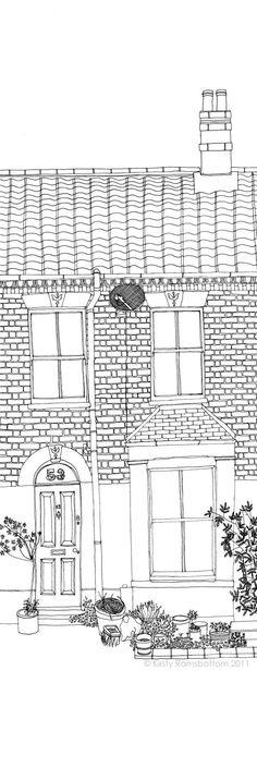 Original Bespoke/Custom House Illustration of YOUR home -