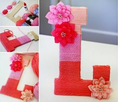 Yarn Letters Easy Craft Video Tutorial