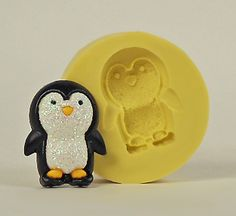 Penguin A190- Flexible Silicone Mold - Crafts, Jewelry, Resin, PMC, Soap, Food, Scrapbooking, Polymer Clay, Push Mold. $4.99, via Etsy.