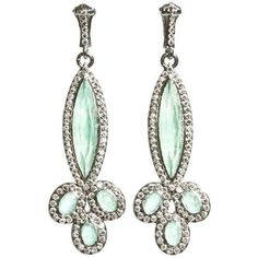 Armenta Earrings – New World Green Turquoise Marquis Blossom Earrings