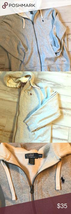 Polo Ralph Lauren full zip hoodie Heather grey full zip hoodie by Polo Ralph Lauren. Perfect condition Polo by Ralph Lauren Shirts Sweatshirts & Hoodies
