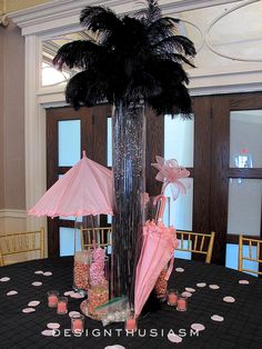 My friend Cathy asked me to help her style the decor for an event, creating a ballroom full of April in Paris centerpieces.