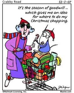 Maxine cartoon, Christmas shopping.
