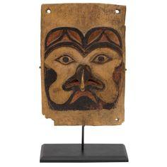 Antique Northwest Coast Carved Frontlet, Tlingit/Tsimshian, late 19th century