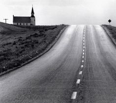 David Plowden  Approaching the 98th Meridian, North Dakota, 1968  From Beinecke Rare Book and Manuscript Library