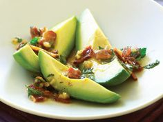 Avocados with Warm Bacon Parsley Vinaigrette | Provided by: Sunset | Crunchy bacon brings out the smokiness of a good Hass avocado, and the sharp vinaigrette helps cut its richness. | From: huffingtonpost.com