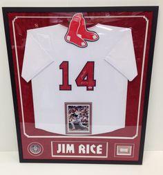 Jim Rice jersey display!