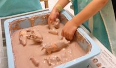 Trinity Preschool MP: Muddy Pigs- Farm fun at preschool- cornstarch and water
