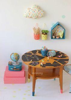 Chalk table idea!