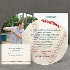 Baseball Wedding Invitation at Invitations By Dawn