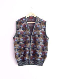 Vintage Men's MISSONI Knit-Vest Made in Italy by KheGreen on Etsy